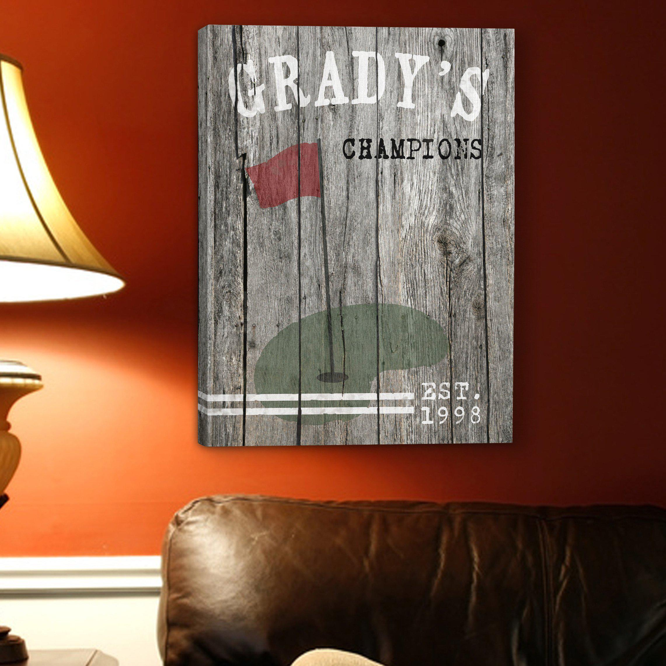 Personalized Signs - Man Cave - Canvas Prints - Groomsmen Gifts