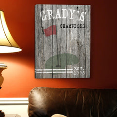 Personalized Man Cave Canvas Prints - Vintage - Golf