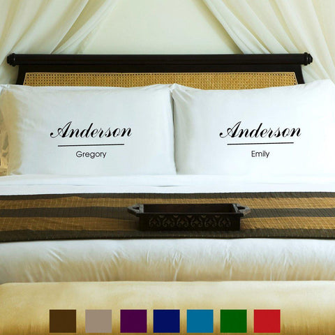 Personalized Couples Pillow Case Set - Classic - Home Decor - AGiftPersonalized