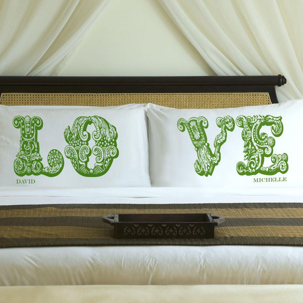 Personalized Couples  LOVE Pillowcases -  - JDS
