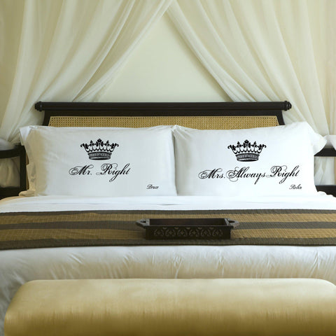 Personalized Couples Pillow Case Set - Royal - Home Decor - AGiftPersonalized