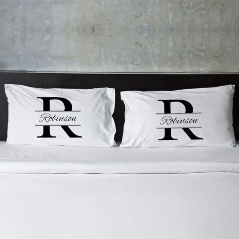 Personalized Couples Pillow Case Set - Stamped - Home Decor - AGiftPersonalized