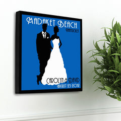 Personalized Couples Studio Canvas Sign - Blue - Canvas Prints - AGiftPersonalized