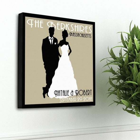 Personalized Couples Studio Canvas Sign - Tan - JDS