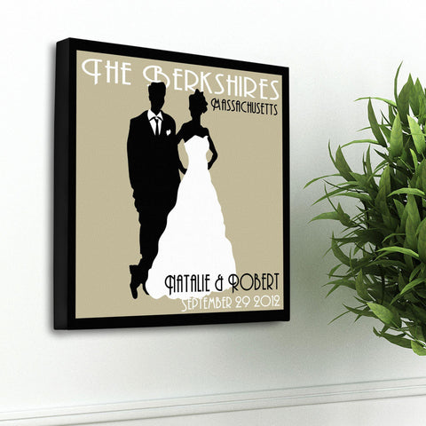 Personalized Couples Studio Canvas Sign - Tan