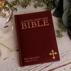 Personalized Small Catholic Children's First Bible at AGiftPersonalized