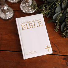 Personalized Catholic Children's Bible - White at AGiftPersonalized