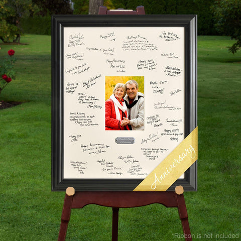 Personalized Anniversary Signature Frame -  - Personalized Wall Art - AGiftPersonalized