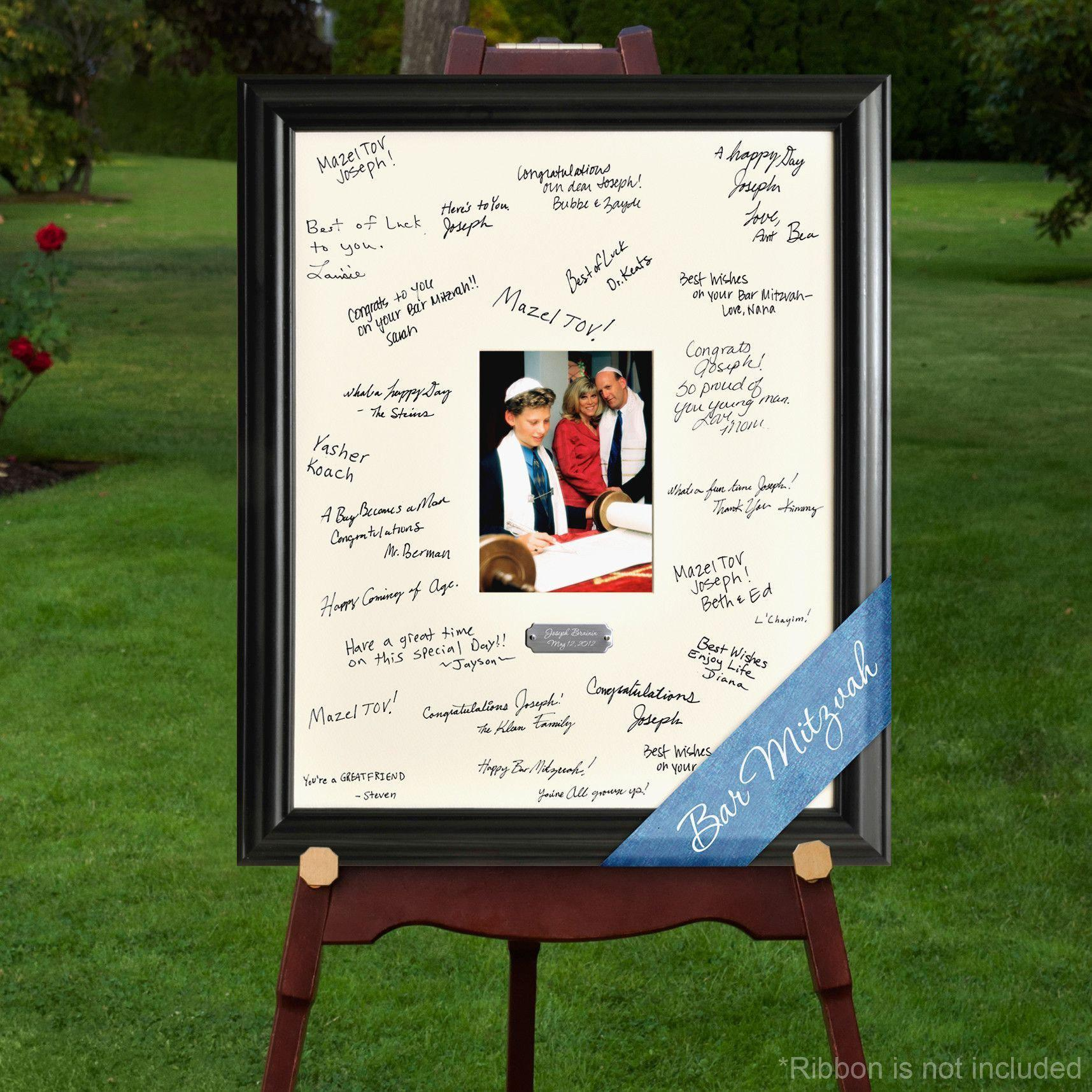 Personalized Celebrations Quinceanera, Bar mitzvah,  Bat mitzvah, Signature Frame