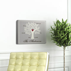 Personalized Family Tree Canvas Sign - Contemporary, Modern, and Traditional Designs
