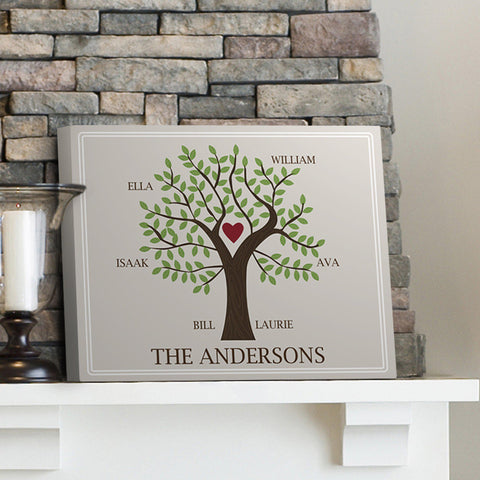 Personalized Family Signs - Family Tree - Multiple Designs - Traditional - Canvas Prints - AGiftPersonalized
