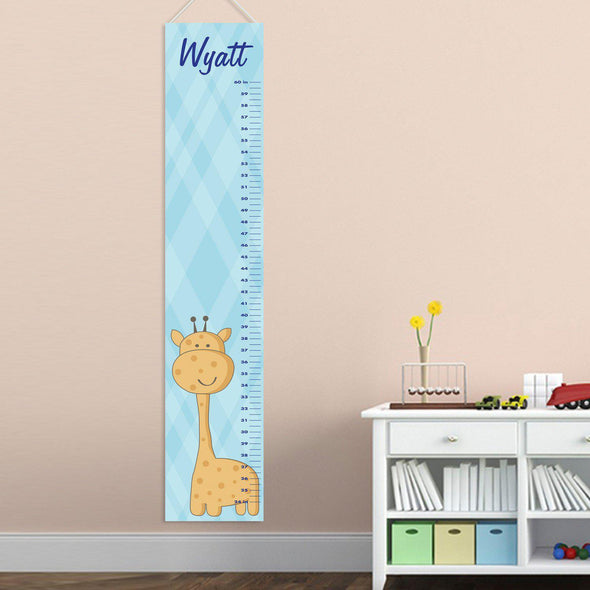 Personalized Growth Chart - Height Chart - Boys - Gifts for Kids - BabyBoyGiraffe - JDS