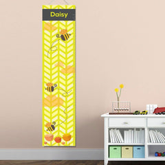 Personalized Growth Chart - Height Chart - Girls - Gifts for Kids - Bees - Gifts for Kids - AGiftPersonalized
