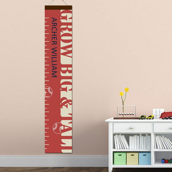 Personalized Growth Chart - Height Chart - Boys - Gifts for Kids - BigTallBaseball - JDS