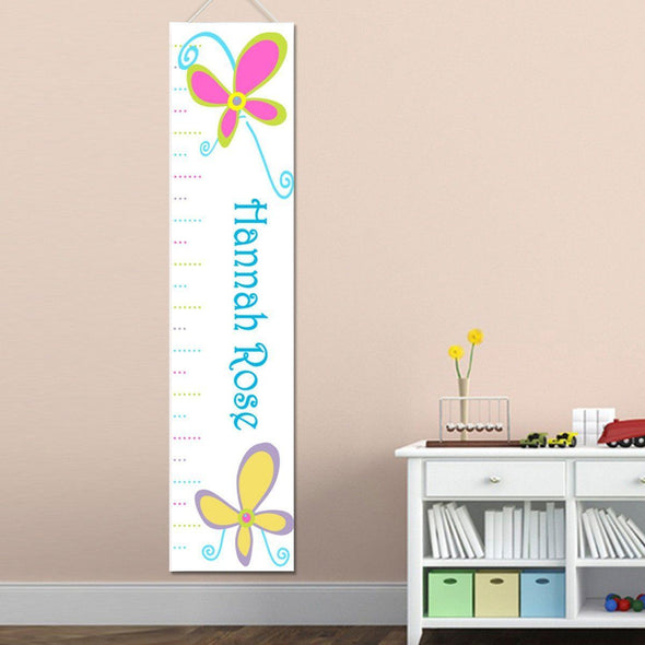 Personalized Growth Chart - Height Chart - Girls - Gifts for Kids - BrightButterflies - JDS