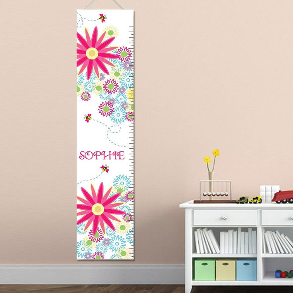 Personalized Growth Chart - Height Chart - Girls - Gifts for Kids - BuzzingFlowers - JDS