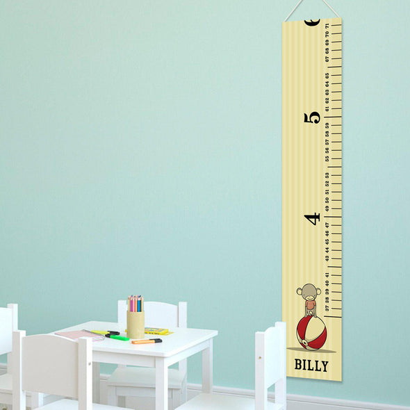 Personalized Growth Chart - Height Chart - Boys - Gifts for Kids - CircusPrince - JDS