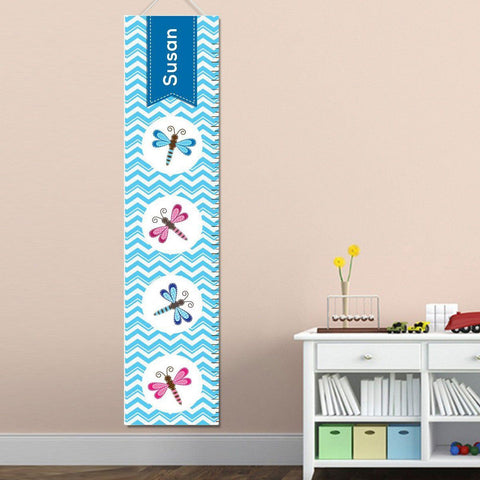 Personalized Growth Chart - Height Chart - Girls - Gifts for Kids - Dragonfly - Gifts for Kids - AGiftPersonalized