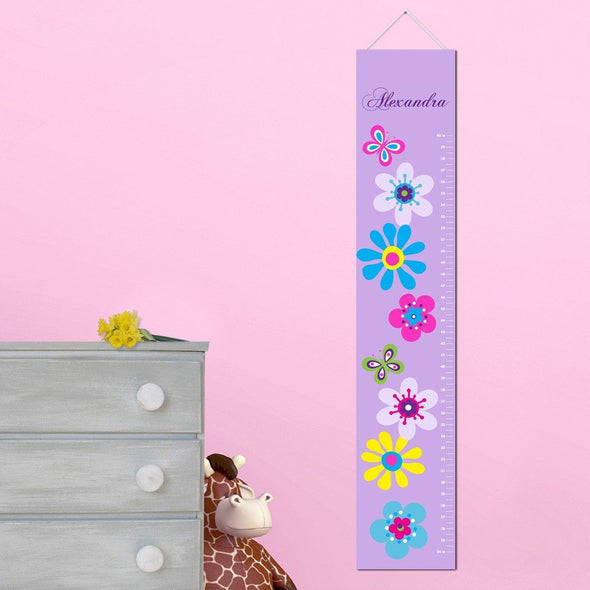 Personalized Growth Chart - Height Chart - Girls - Gifts for Kids - LilacBlooms - JDS