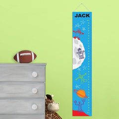 Personalized Growth Chart - Height Chart - Boys - Gifts for Kids - MartianMan