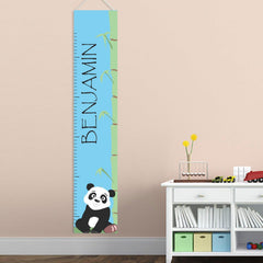 Personalized Growth Chart - Height Chart - Boys - Gifts for Kids - Panda