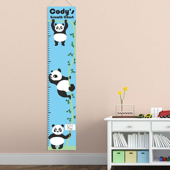 Personalized Growth Chart - Height Chart - Boys - Gifts for Kids - PandasHanging - JDS