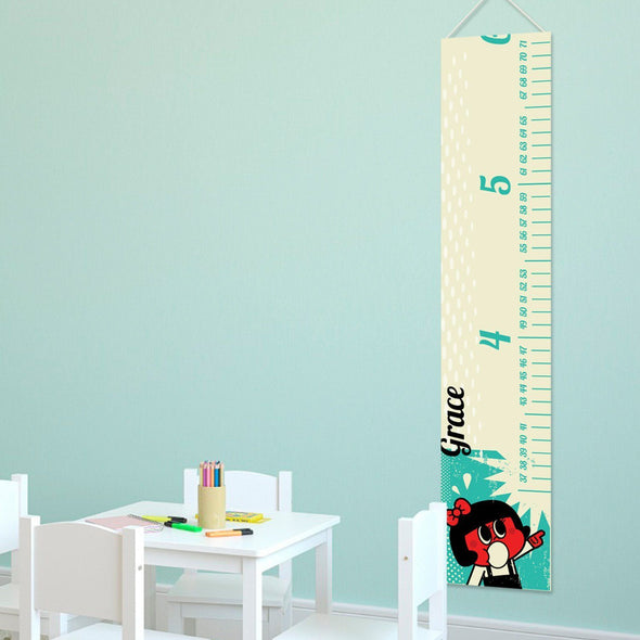 Personalized Growth Chart - Height Chart - Girls - Gifts for Kids - RetroGirl - JDS