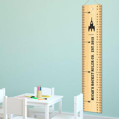 Personalized Rocket Ruler Growth Chart for Boys - Rocket Height Chart -