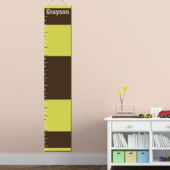 Personalized Growth Chart - Height Chart - Boys - Gifts for Kids - Rugby - JDS