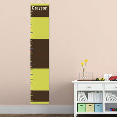 Personalized Growth Chart - Height Chart - Boys - Gifts for Kids - Rugby