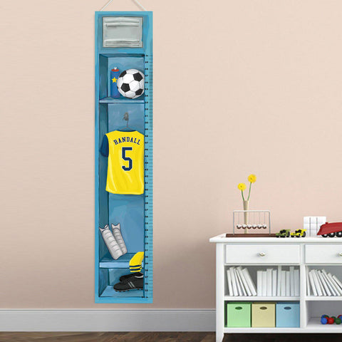 Child Growth Chart - Soccer -  - Gifts for Kids - AGiftPersonalized