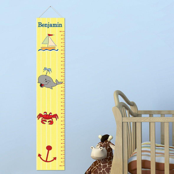 Personalized Growth Chart - Height Chart - Boys - Gifts for Kids - ShipShape - JDS