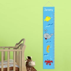 Personalized Growth Chart - Height Chart - Boys - Gifts for Kids - UndertheSea