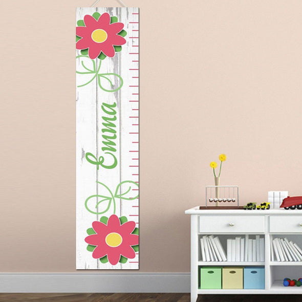 Personalized Growth Chart - Height Chart - Girls - Gifts for Kids - WarmFlowers - JDS