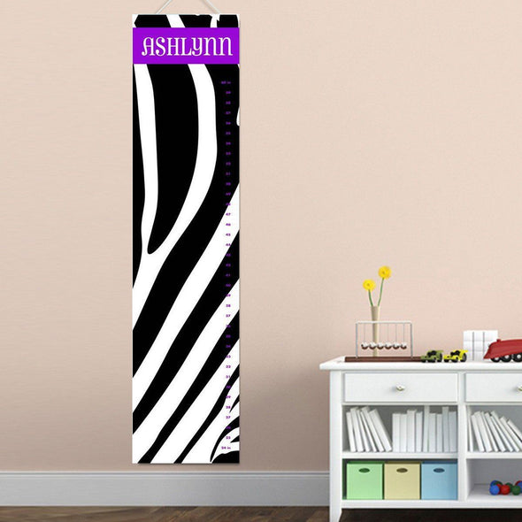 Personalized Growth Chart - Height Chart - Girls - Gifts for Kids - ZainyZebra - JDS
