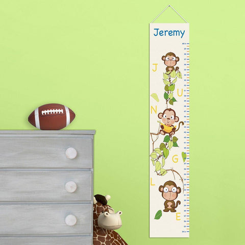 Personalized Monkey Growth Chart for Boys - Monkey Height Chart -  - Gifts for Kids - AGiftPersonalized