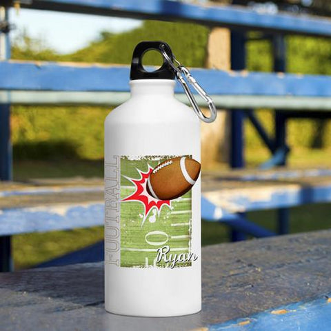 Personalized Kid's Sports Water Bottles - Football -  - Gifts for Kids - AGiftPersonalized