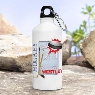 Personalized Kid's  Hockey Water Bottle -  - JDS