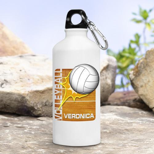 Personalized-Kids-Sports-Water-Bottles-Volleyball