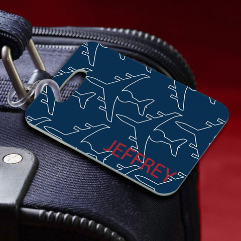 Personalized Luggage Tags - JetSetter-Blue