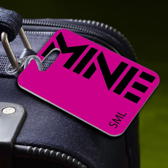 Personalized Luggage Tags - MINE-Pink - JDS