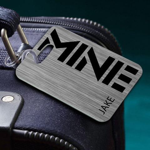 Personalized Luggage Tags - MINE-Steel - Travel Gear - AGiftPersonalized