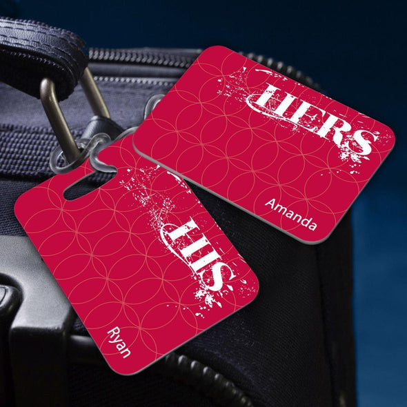 Personalized Couples Luggage Tags - HisandHers - JDS