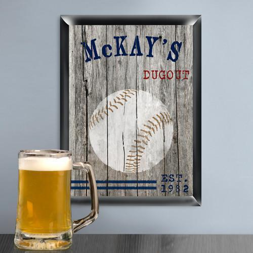 Personalized Traditional Man Cave Pub Signs - Baseball - JDS