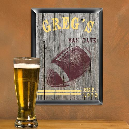 Personalized Traditional Man Cave Pub Signs - Football - JDS
