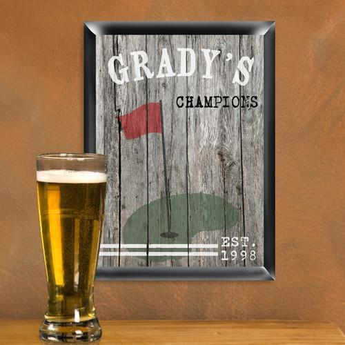 Personalized Traditional Man Cave Pub Signs - Golf - JDS