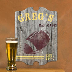 Personalized Vintage Man Cave Pub Sign - Football -  - Man Cave Gifts - AGiftPersonalized