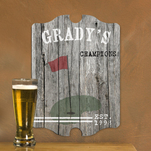 Personalized Bar Signs - Man Cave - Pub Sign - Multiple Designs - Golf - JDS