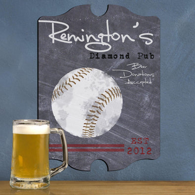 Personalized Baseball, Billiards, Football, Golf, Homerun, Mug Pub Sign - Baseball - JDS