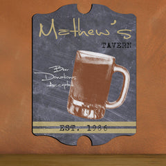Personalized Vintage Tavern Pub Sign - Baseball, Billiards, Football, Golf, Homerun, Mug - Mug - Man Cave Gifts - AGiftPersonalized